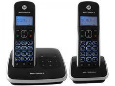 Telefone Digital s/ Fio Motorola até 5 Ramais - com Identificador de Chamadas MRD2