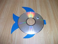 Preschool Crafts For Kids Easy Rainbow Fish CD Craft