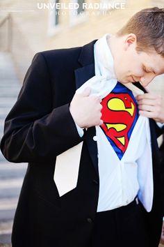 Groom Superman shirt wedding