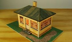1933`s Railtrackhouse Paper Model In HO Scale - by GTP