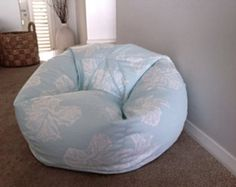BEAN BAG COVER ONLY. BEANS ARE NOT INCLUDED.  A STUNNING DESIGN & BEAUTIFUL COLOURS OF AQUA, TEAL & TAN  This bean bag will look stunning in the lounge room or the bedroom. Great birthday gift idea! Girls and Boys of all ages will absolutely love this bean bag.  The design is screen printed on heavy weight cotton which has the appearance of Linen without the price tag.  Small measures approx 75cm wide x 60cm high. (Req 150 litres of beans) Medium measures approx 85cm wide x 90cm high ...