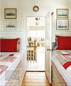 tiny bedroom with built in beds? yes, please!
