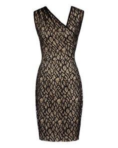 Reiss | Black Alma Gathered Lace Dress  | Lyst