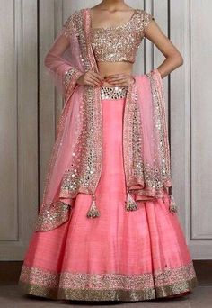 Looking for Lehenga Online: Buy Indian lehenga choli online for brides at best price from Andaaz Fashion. Choose from a wide range of latest lehenga designs. Indian Lehenga, Lehenga Sari, Raw Silk Lehenga, Bridal Lehenga, Anarkali, Pink Lehenga, Wedding Lehnga, Mode Bollywood, Bollywood Fashion