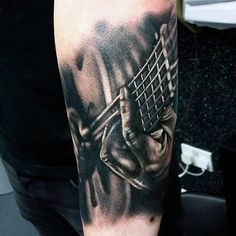 Bilderesultat for inner arm sleeve tattoos for women Guitar Tattoo Design, Music Tattoo Designs, Music Tattoos, Tattoo Designs For Women, Tatoos, Unique Tattoos, Small Tattoos, Tattoos For Guys, Sketch Faces