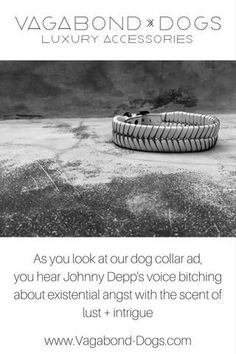 Tragically cool minimal crafted dog accessories. California boho cool dog collars. Vagabond-Dogs.com Fancy Dog Collars, Dog Collars & Leashes, Leather Dog Collars, Dog Leash, Build A Dog House, Artist And Craftsman, Puppy Food, Dog Accessories, Leather Accessories