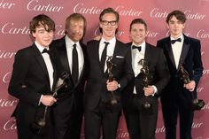 The Imitation Game wins the Ensemble Performance Award onstage during the Annual Palm Springs International Film Festival Awards Gala at Palm Springs Convention Center in Palm Springs, California. Benedict Cumberbatch, Sherlock Cumberbatch, Sherlock Actor, Sherlock Bbc, Matthew Beard, Palm Springs Film Festival, Allen Leech, The Imitation Game, Michael Shannon