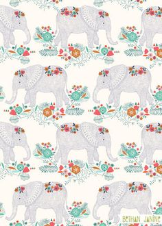 Elephants pattern. Much more there!