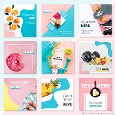 Instagram Design, Instagram Feed Layout, Instagram Grid, Instagram Post Template, Social Media Banner, Social Media Graphics, Graphisches Design, Catalog Design, Photoshop