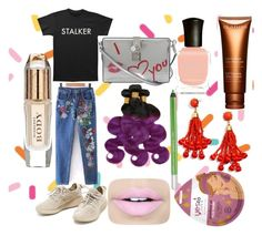 """Untitled #37"" by yasm-ina ❤ liked on Polyvore featuring Dolce&Gabbana, Deborah Lippmann, Urban Decay, Fiebiger, BaubleBar, Clarins and Burberry"