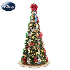 Ultimate Disney Wondrous Christmas Pre-Lit Christmas Tree. A collapsible, pre-decorated tree!!!