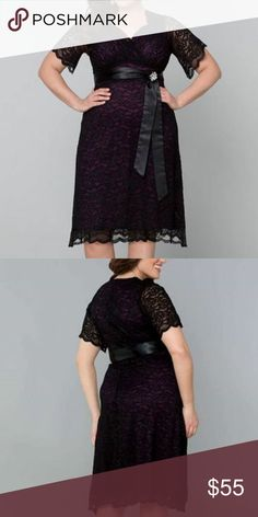 Kiyonna Retro glam dress Beautiful worn once size 1x comes with sash but broach is missing Kiyonna Dresses