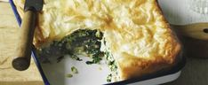 This traditional Greek spinach pie is a tasty vegetarian dish that can be enjoyed as a hot or cold main meal. Spinach is also a wonder-vegetable packed full of vitamins and dietary fiber.