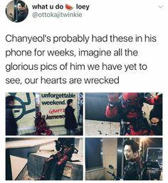 A bitch is crying Kpop Exo, Exo K, Park Chanyeol, Kpop Memes, Bts And Exo, Korean Bands, Exo Members, Korean Music, Chanbaek