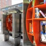 Turning pay phone booths into community bookshelves