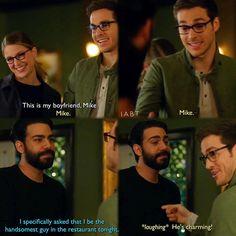 """This is my boyfriend, Mike"" - Kara, Mon-El aka Mike and Jack #Supergirl (by iabt)"