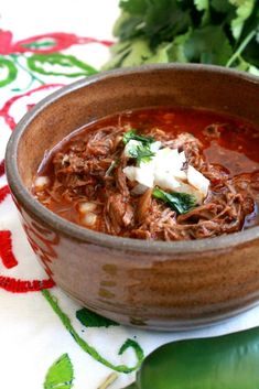 A bowl of this delicious Slow Cooker Birria de Res, or Mexican Beef stew, is so . - A bowl of this delicious Slow Cooker Birria de Res, or Mexican Beef stew, is so incredibly satisfyi - Authentic Mexican Recipes, Mexican Food Recipes, Slow Cooker Recipes Mexican, Best Mexican Food, Crock Pot Recipes, Soup Recipes, Cooking Recipes, Healthy Recipes, Dinner Ideas