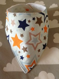 Handmade Baby Bandana Dribble Bib Riley Blake ONE FOR THE BOYS STARS Fabric GIFT £4.50