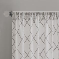Odessa Geometric Sheer Rod Pocket Single Curtain Panel