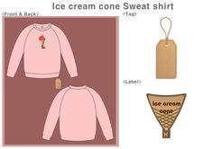 Strawberry ice cream cone Sweat shirt 맨투맨