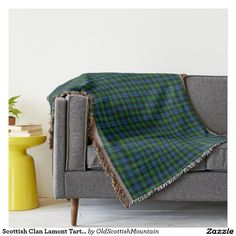 Scottish Clan Lamont Tartan Throw