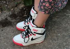 Nike | Nike Dunk Sky High Black Wedge Trainers at ASOS