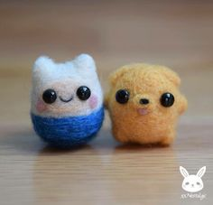 Mini needle felt creatures
