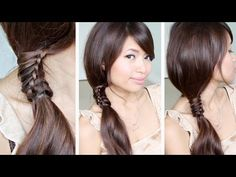Jazz up a side ponytail with the Chinese staircase #braid