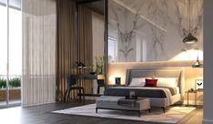 camera-da-letto-moderna-parete-mattoni-armadio-bianco-letto-legno ...