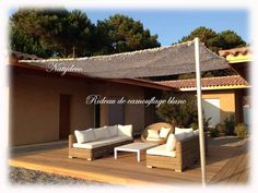 Le printemps arrive pensez à abriter vos tonnelles du soleil avec le rideau de camouflage blanc ou en rideau de maison en vente sur le site NATYDECO 12 € le m sur 2 m 40 lavable en machine et pas d'ourlet à faire http://www.natydecocorse.com