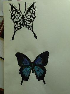 Simple Butterfly Tattoo, Butterfly Tattoo Designs, Tattoo Ideas