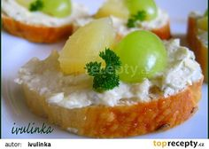 Hermelínová pomazánka s tvarohem recept - TopRecepty.cz Baked Potato, Camembert Cheese, Mashed Potatoes, Food And Drink, Treats, Baking, Ethnic Recipes, Fit, Bakken