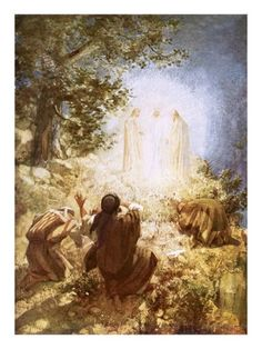 The Transfiguration, Bible Illustrations, Bible Pictures, A Course In Miracles, Biblical Art, Bible Art, Lds Art, Bible Scriptures, Religious Art