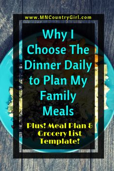 """Save time, energy, and money with this awesome meal planning service! The Dinner Daily provides quick, easy & affordable meal plans! Meal Plan Grocery List, Grocery Lists, Grow Your Own Food, Organic Vegetables, Choose Me, Blog Tips, Homemaking, Healthy Life, Healthy Eating"