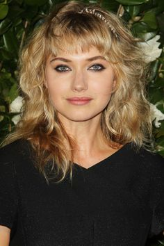 Hairstyles for round faces - Imogen Poots