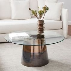 A shiny, warm metallic glaze dresses up our Color Wash Coffee Table, for a look that's like jewelry for your living room. Slight variations in color mean that each piece is subtly unique. Pedestal Coffee Table, Walnut Coffee Table, Coffee Table With Storage, Round Coffee Table, Repurposed Furniture, Vintage Furniture, Living Room Furniture, Home Furniture, Kitchen Furniture