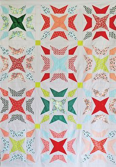 Freshly Pieced: Wavelength pattern can be paper pieced or use a traditional Kite template.
