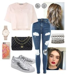 """""""Untitled #507"""" by berwna on Polyvore featuring Topshop, adidas, adidas Originals, Casetify, ROSEFIELD, Chanel and Charlotte Russe"""