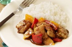 Sweet & Sticky Orange Chicken recipe-If your favorite Chinese place knows your order by heart, it's time to try our super-simple takeout-inspired orange chicken. Sweet and sticky says it all. Kraft Recipes, New Recipes, Cooking Recipes, Favorite Recipes, Goose Recipes, Recipies, Turkey Recipes, Drink Recipes, Snack Recipes
