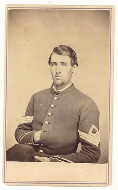 CDV : Civil War First Sergeant with Service Stripes 1860s'