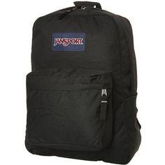 Mens Jansport Superbreak 25l Backpack Black Polyester