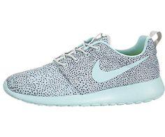 nice Nike Women's Rosherun Print Black/White Running Shoe (6, Cool Grey /
