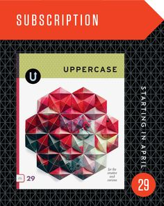 Subscription: Starting with #29 (April 2016) - UPPERCASE - A responsive Shopify theme
