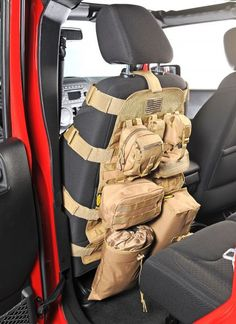 Only Smittybilt could come up with a product as innovative as the new G.E.A.R. Seat Covers. Combining plush comfort with an efficient design, Smittybilt takes the idea of premium seat covers to a whole new level. Each G.E.A.R. seat cover comes fully-equipped with pockets and storage compartments to help you store personal items and save space, while also providing a comfortable and durable seat cover solution. Sold Individually. I want it in Black.