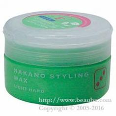 http://www.beauba.com/products/detail.php?product_id=1649 Nakano Styling Wax 90g 3 Light Hard(green). #Styling #Wax  Neat and active. Moderate holding power allows you to naturally position hair ends and bundles. Prevents fading. French rose fragrance