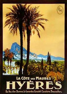 Hyeres vintage poster by Lacaze Julien