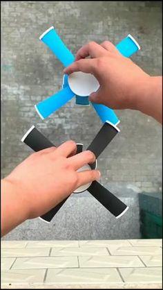 Paper Crafts Origami, Paper Crafts For Kids, Craft Activities For Kids, Fun Crafts, Origami Toys, Diy Crafts For Kids Easy, Diy Crafts Hacks, Projects For Kids, Diy Toys