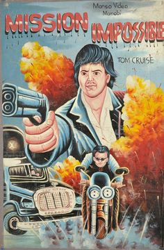 A Collection Of Hand-Painted Movie Posters From Africa