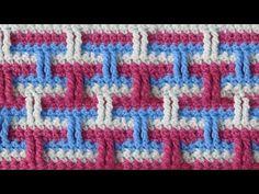 Трёхцветный узор Вязание крючком Crochet pattern 55 - YouTube