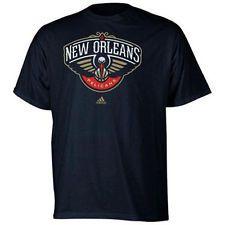 New Orleans Pelicans Adidas Primary Logo NBA Men T Shirt Blue New Orleans  Pelicans 08d20199d